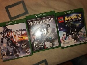 XBox One Games : Battlefield 4 + Watch Dogs + Lego Batman
