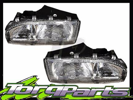 PAIR HOLDEN VL COMMODORE HEADLIGHT HEAD LAMP SUIT EXECUTIVE