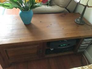 Handsome and strong timber entertainment unit Holsworthy Campbelltown Area Preview
