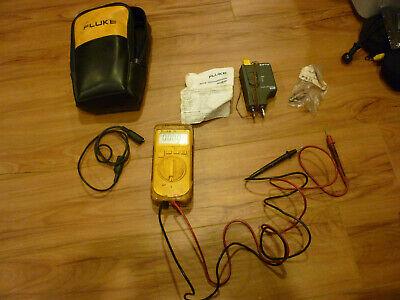 Fluke 12b Multimeter Volt Meter Automotive Hvac 80tk Thermocouple Module