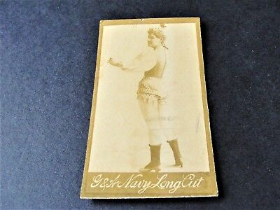 Antique  G.W. Gail/Ax's Navy Tobacco Card with black and white image of lady. for sale  Macedonia