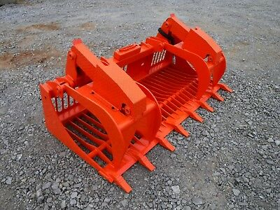 Kubota Skid Steer Attachment - 80 Rock Bucket Grapple With Teeth - Ship 199