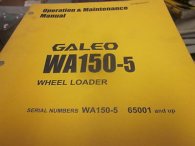 Komatsu Wa150-5 Wheel Loader Operation Maintenance Manual Sn 65001-