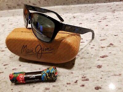 Maui Jim Road Trip MJ435-03J Black Blue Tortoise Polarized Sunglasses
