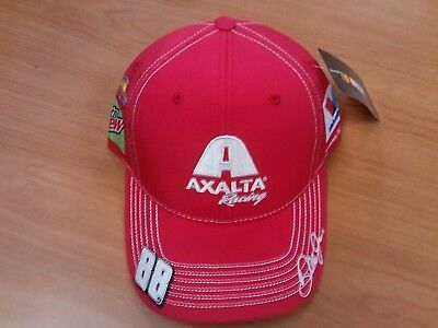 Dale Earnhardt Jr Junior #88 NASCAR Ball Cap Hat NEW Axalta Racing Red Mtn Dew Dale Earnhardt Jr Cap