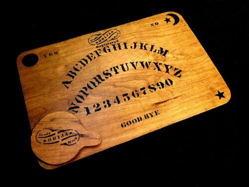 Wooden Ouija Board Set with Planchette Antique Kennard Handmade Replica Vintage