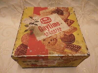 Large Vintage Symbol Gaytime Assorted Tin