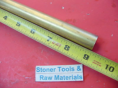 78 C360 Brass Solid Round Rod 9 Long New Lathe Bar Stock .875 H02