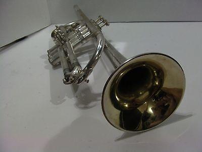 Conn 6a cornet and original case satin silver finish gold wash bell