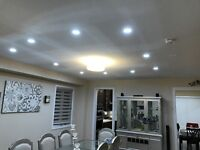 LED POTLIGHT INSTALLATION BY LICENSED ELECTRICIANS CALL