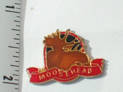 Vintage Moosehead Beer Pin , Lapel Pin , Hat Tack
