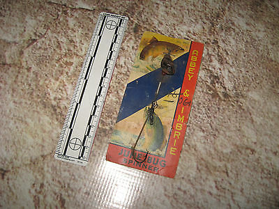 Vintage Antique Fishing Lure By Abby & Imbrie June Bug Spinner 062