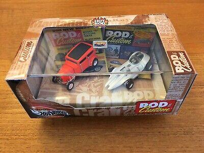 HOT WHEELS ROD & CUSTOM MAGAZINE 2 CAR BOX SET