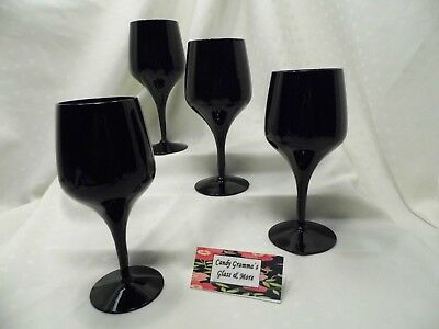 Morgantown VISION EBONY Water Wine Goblet Set of four](Black Wine Glasses Bulk)