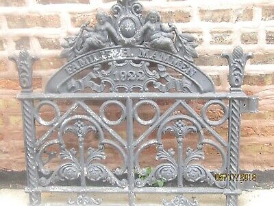 Antique Cast Iron Gate 1922 Familie H Mammen 97 Years Old (Antique Gate)