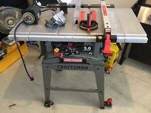 "Craftsman table saw 10"" for parts only motor shot!"