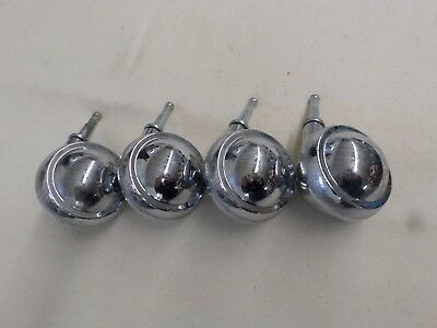 Set Of 4 Shepherd Silver Metal Chrome Finish 2 12 Swivel Stem Casters