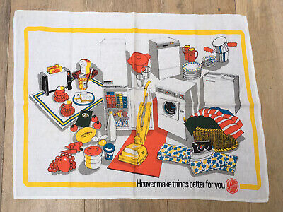 Genuine Vintage Cotton Tea Towel Hoover Advertisement Home Decor Props