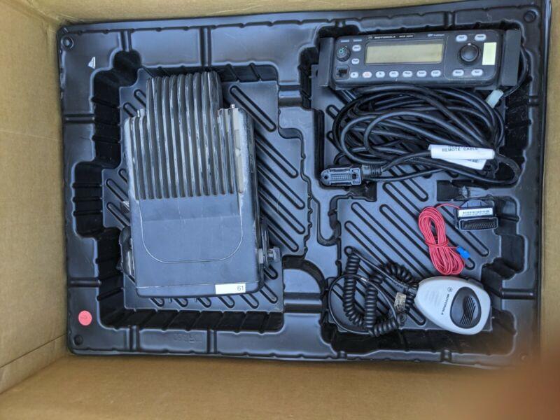 Motorola MCS2000 Model MO1HX+427W, 110 watt VHF Radio 146-174 MHz Bundle - Used