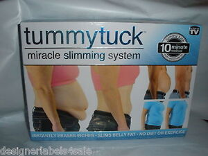 TUMMY TUCK MIRACLE SLIMMING SYSTEM 10 MINUTE METHOD BELT SIZE 1 2 3