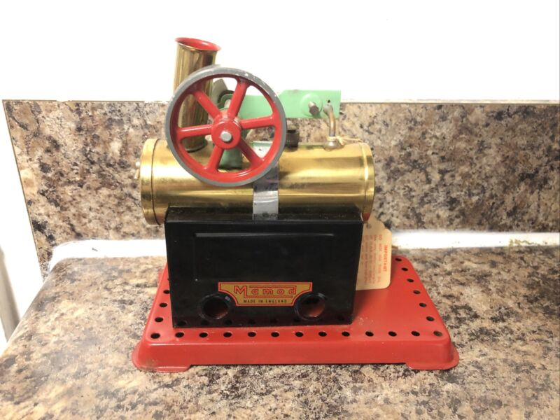 Mamod Antique Brass Stationary Model Boiler Steam Engine Vintage !
