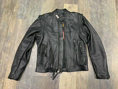 Harley Davidson women's size XS Willie G leather jacket extra small. FREE S&H!