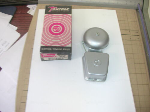 """TONEPAK 302  2 COIL 2-1/2"""" BELL 6 VOLT AC/DC   ELECTRICAL SIGNALING DEVICE"""