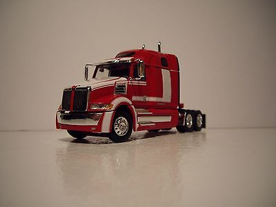 Dcp 1 64 Red And White Western Star 5700Xe With Mid Roof Sleeper