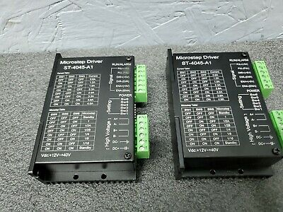 Lot Of 2 - St-4045-a1 Cnc Micro-stepping Stepper Motor Driver 4.5a