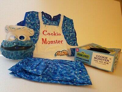 """Vintage 1970s Ben Cooper Halloween """"Cookie monster"""" costume in original box"""