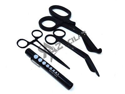 Black Emt  Paramedic Tools Medical Bandage Scissors Shears Penlight Hemostat New