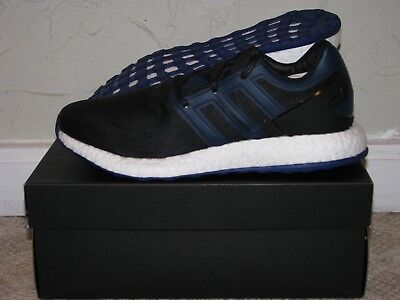 Y-3 Pureboost Black / Blue Mens Size 9.5 DS NEW! BY8956 Yamamoto adidas Boost