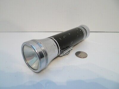 Vintage Eveready Metal Flashlight Black & Chrome !!!