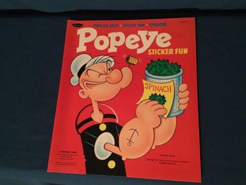 1969 Whitman Popeye Sticker Fun Coloring Book