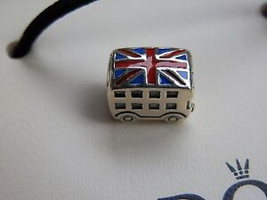 Pandora S925 Ale London Bus Charm With Tissue And Pop-up Box