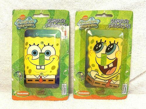 Nickelodeon Spongebob Squarepants Seaworthy Switch Plate Switch Nose Lot of 2