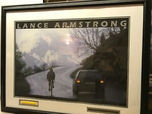 Lance Armstrong framed photo