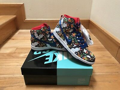 2017 Nike SB Dunk High sz 9.5 Ugly Christmas Sweater 881758-446 Concepts XMAS QS