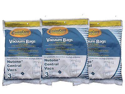 9 Central Vacuum Cleaner bags For Nutone Broan Cyclovac Dynavac Easyflo Eurek...