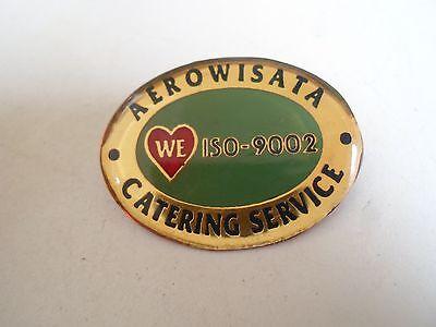Aerowisata Catering Service (We Love ISO-9002) Retro Pin Badge