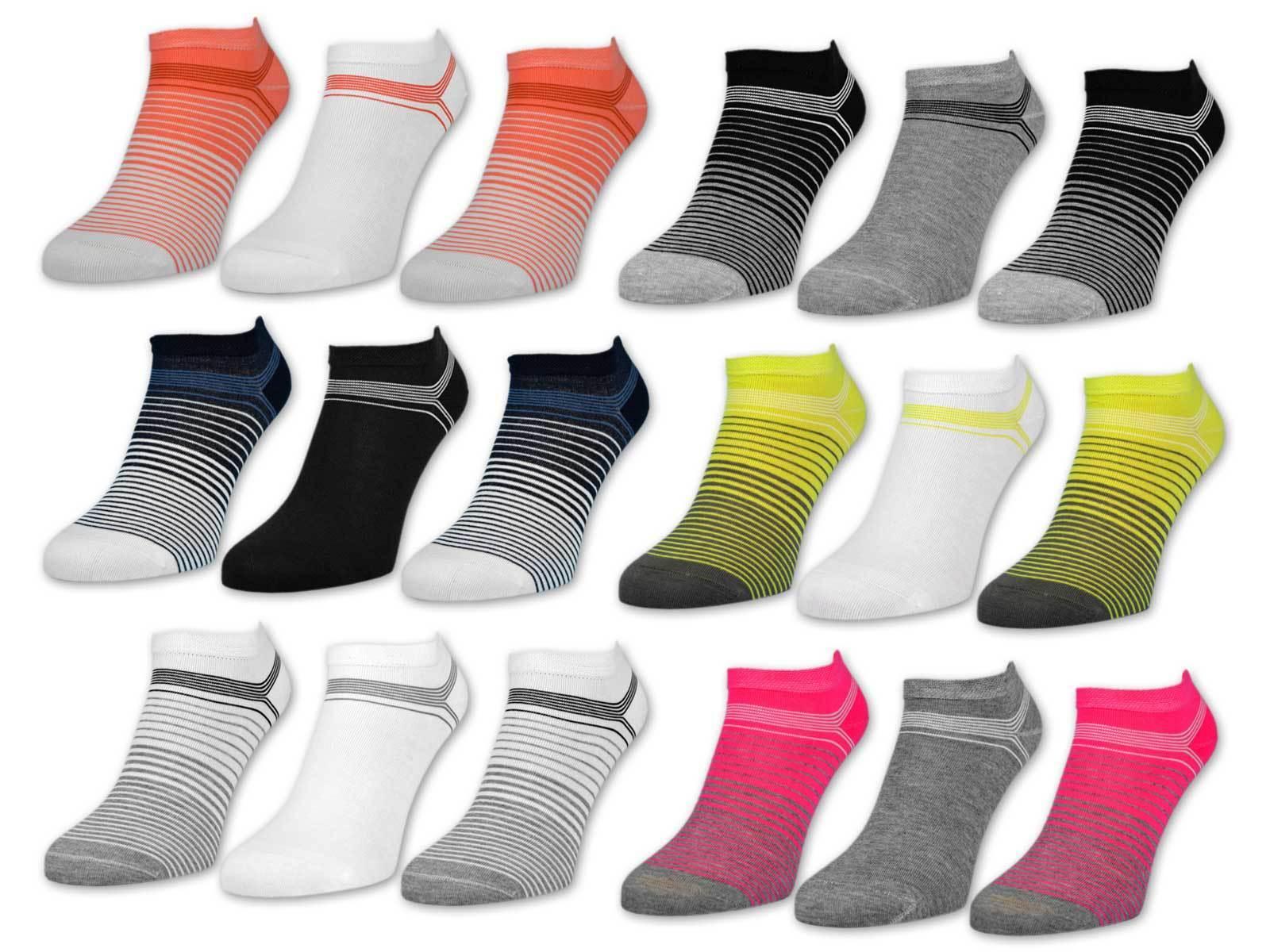 "6 oder 12 Paar Damen Sneaker Socken ""Gute Laune"" Baumwolle Damensocken ohne Naht"