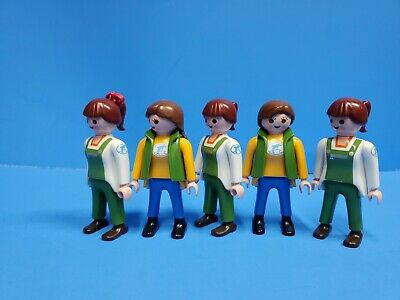 Playmobil 5 woman zookeeper workers lady klicky toy 183