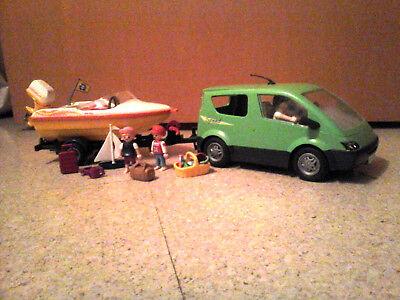 Playmobil 4144 Family Van mit Bootsanhänger und Boot