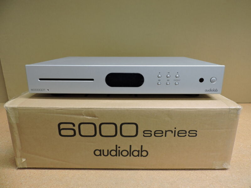 Audiolab 6000CDT Dedicated CD Transport with Remote (Silver)