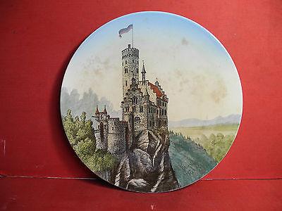 Villeroy & Boch Mettlach Wandteller mit Schloss Lichtenstein um 1890 Reutlingen