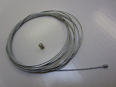 VESPA THROTTLE EXTRA LONG INNER CABLE AND NIPPLE TO FIT PX DISC PX P T5 EFL ETC
