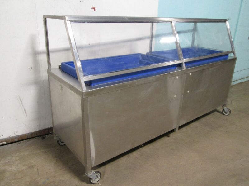 """""""UNIVERSAL STAINLESS INC"""" H.D.COMMERCIAL ICE BED/BATH COLD FOOD, SEAFOOD DISPLAY"""
