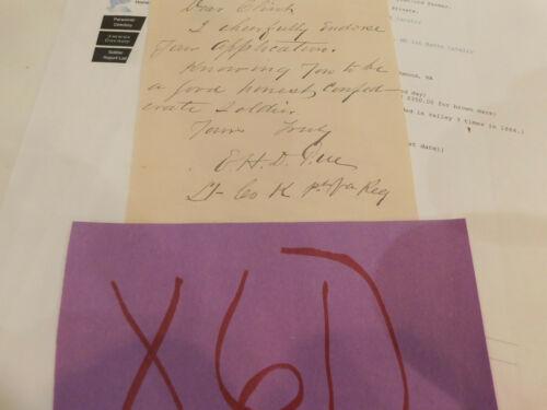 Civil War Maryland Confederate Cavalry Notable E H Dorsey Letter 1903 Bela  X61)
