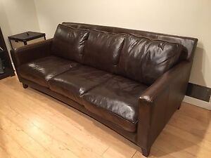 Gorgeous urban barn leather couch