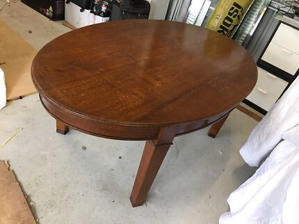 Silky oak dining table antique